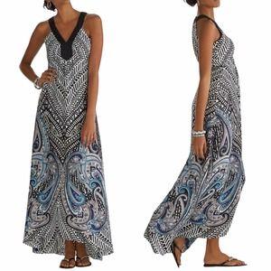 White House Black Market Maxi High-Low Dress sz 4